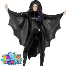 Vampire Bat Wings Black Cape Adult Halloween Womens Ladies Fancy Dress Costume