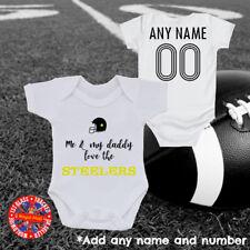 "Steelers ""Me & My Daddy"" Baby Grow Gift, USA America"