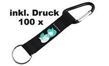 100 x kurze Schlüsselanhänger Shorty Keychains Schlüsselbänder große Farbauswahl