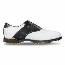 FOOTJOY ICON BLACK MENS GOLF SHOES 52007 M White/Black Lizard Premium Leather
