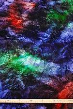 Samt (€17/m²) 0,5 m Crashsamt regenbogenfarben 1,2m breit