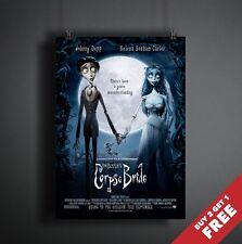 CORPSE BRIDE 2005 MOVIE POSTER A3 A4 * Animation Fantasy Musical Tim Burton Film