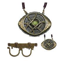 1:1 Doctor Strange Ring & Necklace Eye of Agamotto Pendant Cosplay HandmadProps