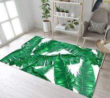 Watercolor Tropical Leaves Area Rugs Bedroom Floor Mat Living Room Carpets Decor