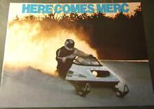 1976 MERCURY SNO TWISTER RACING SNOWMOBILE SALES BROCHURE NICE