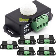 5 X DC 12V/24V Body Infrared PIR Motion Sensor Switch LED Light Strip Automatic
