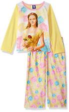Beauty & THE BEAST amarillo para niña Pijama Top & Pantalones Set Talla 4 6 8 10