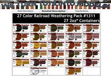 27-COLOR RAILROAD/LOCO/MODEL Weathering Pigment Set DOCTOR BEN'S PLASTIC. HOn3