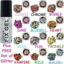 Stargazer - Fix Gel Body Fixative Glue Festival - plus FREE pot Circles Glitter