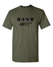 MASH 4077th Army Military Green T Shirt M*A*S*H combat Gildan tee