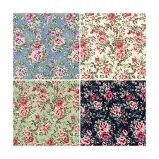Barn Owl Close Rose Heads Floral 100% Cotton Poplin Fabric Patchwork