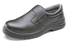 Click Micro Fibre Slip On Safety Shoe. Black. S2 - Cf833