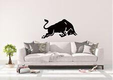 Charging Bull Inspired Design Home Wall Art Decal Vinyl Sticker