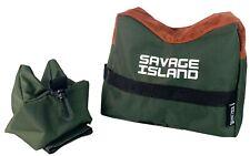 Front & Rear Rifle / Air Gun Bench Rest Bag Hunting Target Shooting Gun - Green