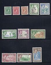 JAMAICA 1938 KGVI  definitives (short set with 11 values) F/VF MH *read desc*