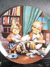 Danbury Mint Hummel 1993 Budding Scholars Kids Reading Ltd Ed Plate