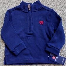 Chaps 1/4 Zip Pullover Sweater Boy's 12  M FREE Ship NWT Ralph Lauren