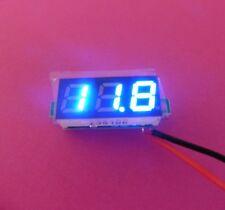"""MINI MISURATORE DI TENSIONE 0.28"""" 2 fili VOLTMETRO BLU 2.5-30V DC display digitale a LED"""