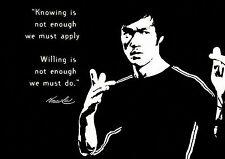 Bruce Lee cita A3 FinServ clásico arte citar motivación cartel actor de Hong Kong