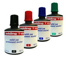 Edding Nachfüll-Tusche/Tinte T100 refill ink permanent marker 100 ml ALLE Farben