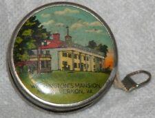 Antique Silver~ Washington'S Mansion,Mt. Vernon,Va. Tape Measure~Novelty