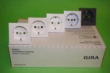 Gira Abdeckung für Steckdose System 55 Reinweiß glänzend, matt, etc. wählbar