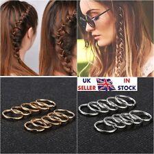 UK 40pcs Women Lady Hip-Hop Braid Gold Silver Ring Hair Clip UK Seller Fast #A31