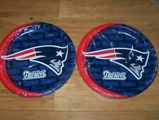 16 Hallmark NEW ENGLAND PATRIOTS Paper Plates Football Superbowl Party Pats NFL