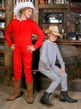 Enfants Long sous-vêtements de ski Une pièce Western Cowboy Long John Coton