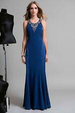 Edas Italia abito lungo Sloven vestito BLU cerimonia evening dress 46-54