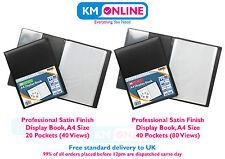 A4 Professional Display Book Presentation Folder Portfolio 20/40 Pocket Satin Fi