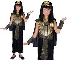 bambini REGINA EGIZIANA COSTUME CLEOPATRA FESTA DEL LIBRO COMPLETO NUOVO