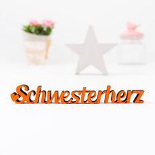 """Kleinlaut 3D-Schriftzug """"Schwesterherz """" 32 Farben & 3 Größen Geschenkidee"""