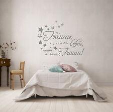 WANDTATTOO  AA004  Träume nicht dein Leben...Schlafzimmer Wohnzimmer Spruch