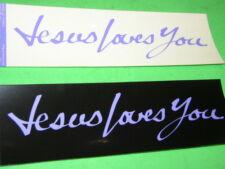 "7 Jesus Loves You  Christian Bumper Sticker Lot 9"""