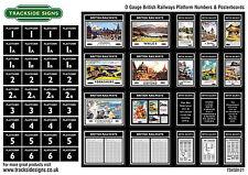 British Railways Platform Numbers & Advertising Posters O Gauge