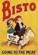 "AD51 Vintage Bisto Gravy Advertisement Advertising Poster A3 17""x12"""
