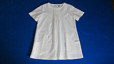Womens white shirt top scrub uniform nurse 3/4 long or short sleeve  NEW