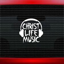 Christ Life Music Christian Car Decal Truck Window Vinyl Sticker (20 COLORS!)