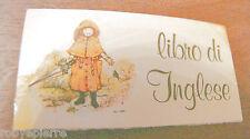 ADESIVO sticker adesivi stickers vintage HOLLY HOBBIE libro di INGLESE pioggia