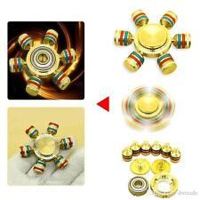 Rainbow Alumium Fidget main spiner doigt Gyro Pocket Toys EDC anti stress Toys
