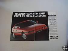 advertising Pubblicità 1990 MAZDA 323