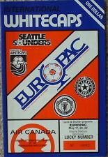 Manchester United soccer (Canada 1982 tour) program (v. Vancouver Whitecaps)