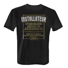 Stundenlohn Installateur Herren T-Shirt Spruch Anlagenmechaniker Beruf Lustig