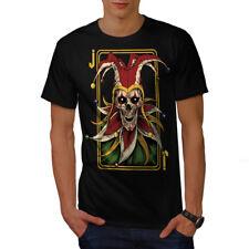Wellcoda JOKER Carta Teschio Horror Da Uomo T-shirt, 0 Graphic Design Stampato Tee