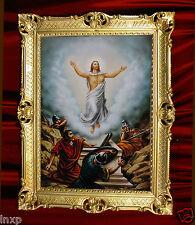 Heiligenbild mit Rahmen GEMÄLDE JESUS MARIA ANTIK BAROCK ROKOKO 90x70 Nr.16