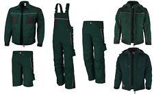 QUALITEX PRO Latzhose Bundhose Arbeitsjacke Arbeitshose Winterjacke grün-schwarz