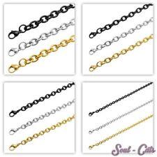 Cadena eslabones de acero inoxidable Collar Cadena de ancla oro plata negro