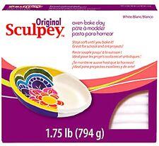 SCULPEY ORIGINAL -Oven Bake Polymer Clay - HUGE 794g Block (1.75lb) - WHITE