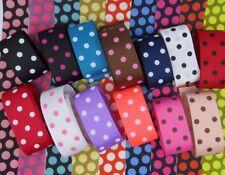38mm Polka Dot Grosgrain Ribbon hair clips, bows, scrap booking, gift wrapping